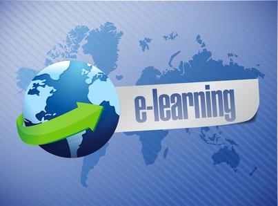 e learning globe concept illustration design